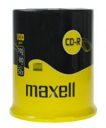 100 Genuine Maxell Blank CD-R CD discs 80 Min 700MB Extra Protection Cakebox